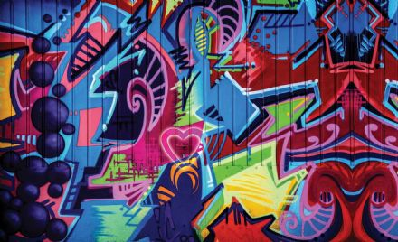 Wallpaper mural - easy install Graffiti Street Art 1508VEXXL